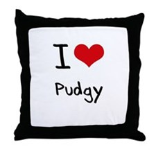 I Love Pudgy Throw Pillow