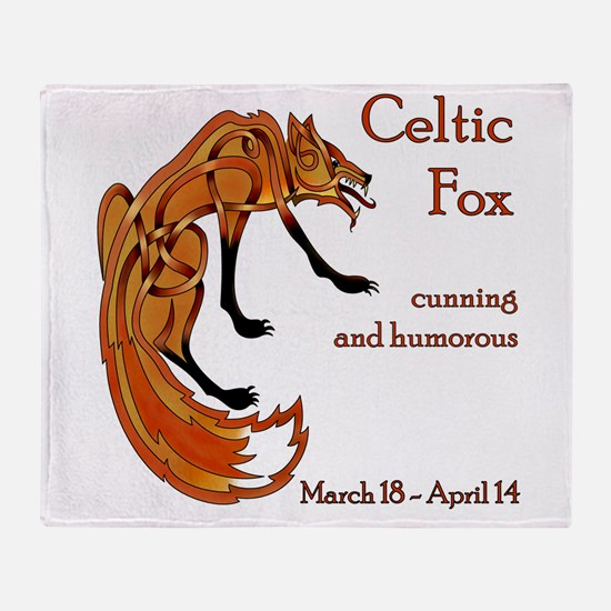 Celtic Fox Throw Blanket