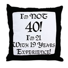 Classy 40th Birthday Throw Pillow