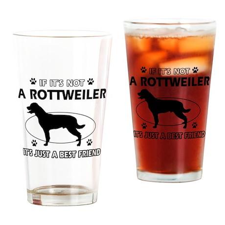 Rottweiler designs Drinking Glass