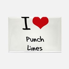 I Love Punch Lines Rectangle Magnet