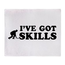Lawnbowl got skills designs Throw Blanket
