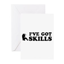 Paintball got skills designs Greeting Cards (Pk of
