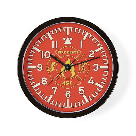 Fahrenheit 451 Fire Deptt Wall Clock