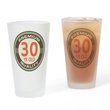 30th Birthday Vintage Drinking Glass