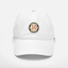 30th Birthday Vintage Baseball Baseball Cap