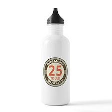 25th Birthday Vintage Water Bottle