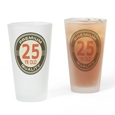 25th Birthday Vintage Drinking Glass