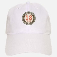 18th Birthday Vintage Baseball Baseball Cap