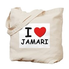 I love Jamari Tote Bag