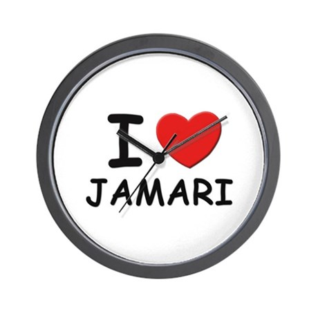 I love Jamari Wall Clock