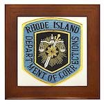 Rhode Island Corrections Framed Tile