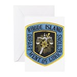 Rhode Island Corrections Greeting Cards (Package o