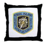 Rhode Island Corrections Throw Pillow