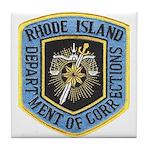 Rhode Island Corrections Tile Coaster