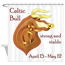 Celtic Bull Shower Curtain