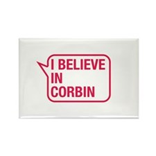 I Believe In Corbin Rectangle Magnet