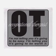 OT/Occupational Therapist Throw Blanket