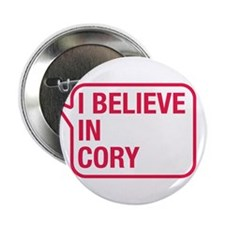 """I Believe In Cory 2.25"""" Button"""