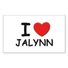 I love Jalynn Rectangle Decal