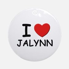 I love Jalynn Ornament (Round)
