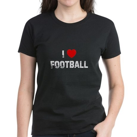 I * Football Women's Dark T-Shirt