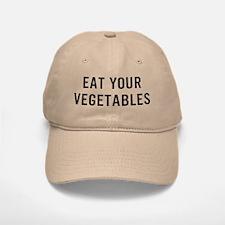 Eat Vegetables Baseball Baseball Cap