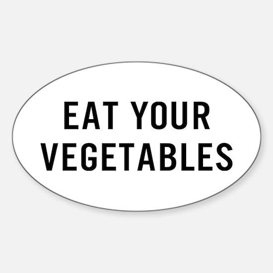 Eat Vegetables Sticker (Oval)