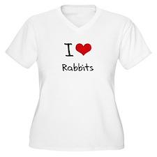 I Love Rabbits Plus Size T-Shirt