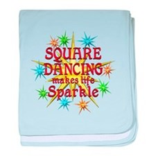 Square Dancing Sparkles baby blanket