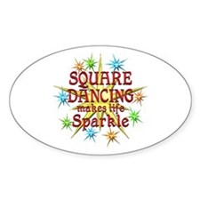 Square Dancing Sparkles Decal