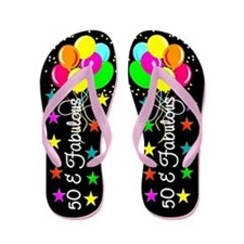 ENCHANTING 50TH Flip Flops
