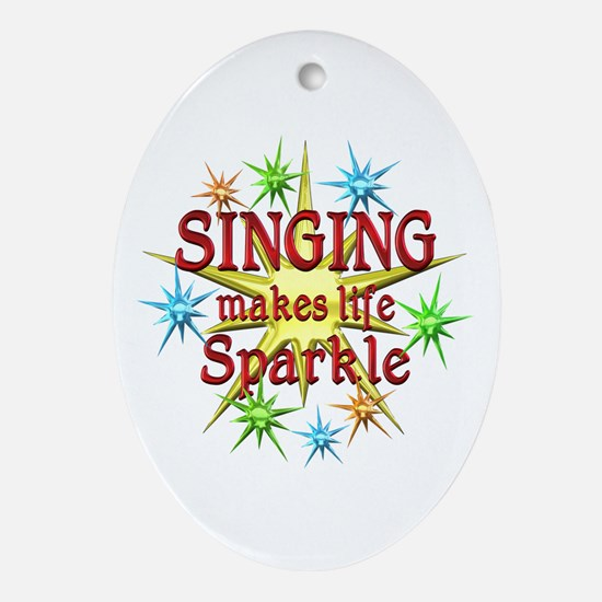 Singing Sparkles Ornament (Oval)