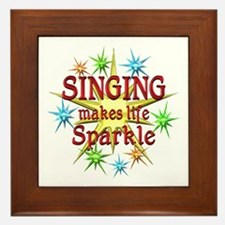 Singing Sparkles Framed Tile