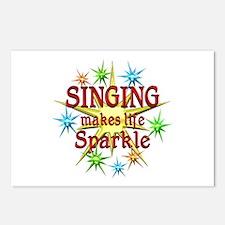 Singing Sparkles Postcards (Package of 8)