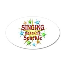 Singing Sparkles Wall Decal
