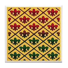 Unusual Fleur de Lis Tile Coaster