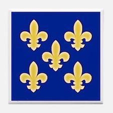 Five Golden Fleur de Lis Tile Coaster