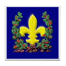 Wreath and Fleur de Lis Tile Coaster