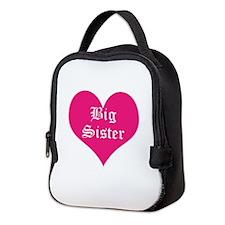 Big Sister, heart, Neoprene Lunch Bag
