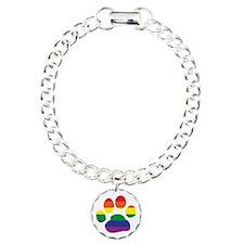 Gay Pride Rainbow Paw Print Bracelet