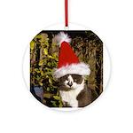 Santa Claws Ornament (Round)