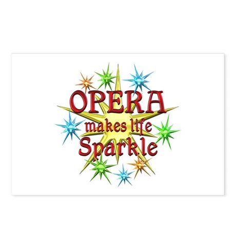Opera Sparkles Postcards (Package of 8)