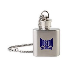 Boston Strong 617 Flask Necklace