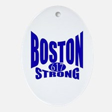 Boston Strong 617 Ornament (Oval)