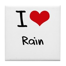 I Love Rain Tile Coaster