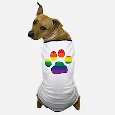 Gay Pride Rainbow Paw Print Dog T-Shirt