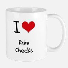 I Love Rain Checks Mug