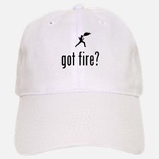 Fire Eating Baseball Baseball Cap