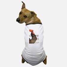 Vintage Rooster Crowing Dog T-Shirt